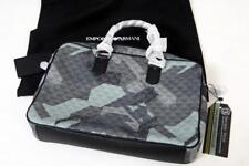 Emporio Armani Grey Camo Leather Handbag RRP £550 metal camouflage bag