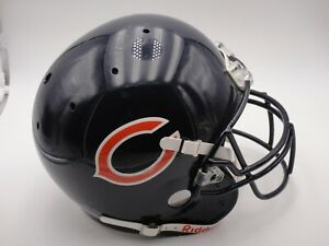 CHICAGO BEARS GAME USED WORN FOOTBALL HELMET ALL ORIGINAL