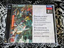 Prokofiev The 5 Piano Concertos Decca 2 CD Set New Vladimir Ashkenazy London