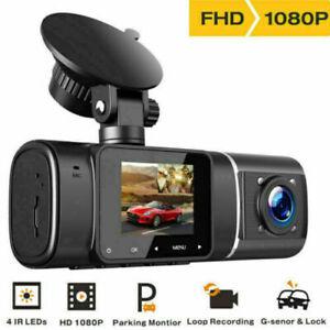 Uber Dual Dash Cam Night Vision Both 1080P Car Driving Recorder Camera 310° DVR