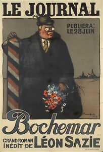 Original Vintage Poster Poulbot Le Journal Bochemar WW1 France 1916