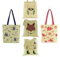 Donna Cotone Tela Disegno Animale Spalla/Borsa Shopping