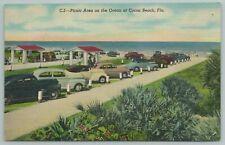 Cocoa Beach Florida~Picnic Area On Ocean~Vintage Postcard