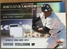 2002 Fleer Genuine Leaders Game Jersey #6 Bernie Williams New York Yankees!