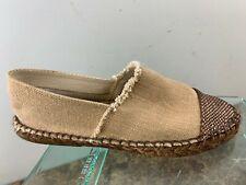 Andre Assous Brown Espadrille Cap Toe Slip On Casual Comfort Flats Shoe Womens 7