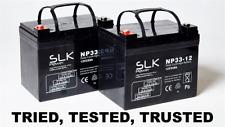 SLK Power Mobility Scooter & Wheelchair Batteries 12V 33Amp - Pack of 2