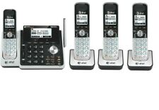 AT&T TL88102 2-Line Cordless System ITAD with 4 Accessory Handset
