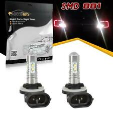 2x 6000K Xenon White 881 898 862 10-SMD Car LED Bulbs Fog Driving Light Lamp