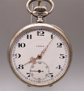 Exclusive seltene Historische Taschenuhr Silber der Marke: LANCO in Silber