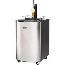 Stainless Steel Full Size Kegerator, Home Brew Tap Beer Dispenser Refrigerator