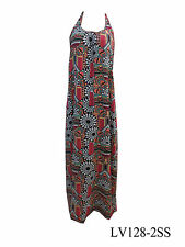 Viscose Maxi Geometric Regular Size Dresses for Women