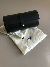 Montblanc Leather Double Travel Watch Roll Pouch Case and Dust bag • NEW