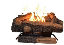 Oakwood Gas Fireplace Logs w/Thermostatic Control Vent Free Propane Fire Log New