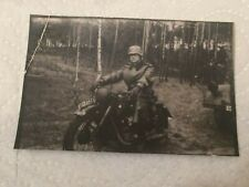 Foto  Wehrmacht Kradmelder WK 2 ca  7,4 X 4,9 cm