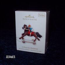 New 2010 Hallmark A PONY FOR CHRISTMAS Teddy Bear Jockey 13th in Series Ornament