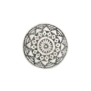HKliving Scandi Round Cotton Bath Mat// 60 cm // small Rug no slip boho home