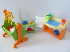 Playmobil DOLLSHOUSE Baby Nursery mobilier: Rocking Crib & table à langer NEUF
