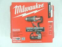 Milwaukee 2801-22CT M18 Compact Brushless 1/2 in. Drill Driver Kit - Red