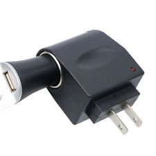 Home AC 90-240V to DC 12V Car Cigarette Lighter Socket Charger US Plug