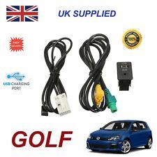 Para VW Golf Usb Aux Interruptor Zócalo CD510 310 300 RNS315 Nav 238 268MF Adaptador