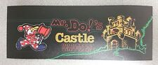 Mr. Do's Castle marquee sticker. 3.5 x 9.5. Buy any 3 stickers, Get One Free!