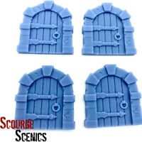 Resin 28mm Fantasy Medieval Arched Door Large