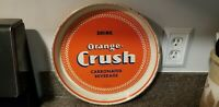 VINTAGE ORANGE CRUSH CARBONATED BEVERAGE 12 INCH SERVING TRAY B-794 ACCO.6-47