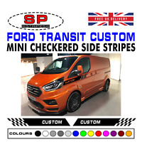 Ford Transit Custom Sport Vinyl Checkered Side Stripes Graphics Racing Decals 30