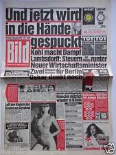 Bild Zeitung - 4.12.1990, Cindy Crawford, Nastassja Kinski, John Lennon