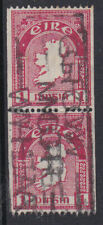 Eire Ireland 1934 Used FU Definitive Coil King George V 1d Red Pair Map SG 72c