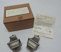 POTTERY BARN PARKER SQUARE ROD FINIAL - SET OF 2 PER BOX - PEWTER TONE - NIB