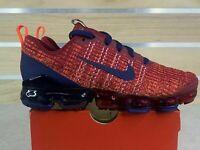 Nike Vapormax Flyknit 3 GS Red Blue Running Shoes (BQ5238-602) 3.5Y = Women's 5