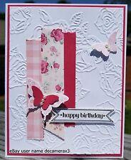 BIRTHDAY HANDMADE CARD KIT,  STAMPIN UP PAPILLON POTPOURRI, BUTTERFLY