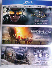"3 BLU-RAY Coffret ""The Bomber + Hindenburg + Stalingrad Snipers"" NEUF BLISTER"