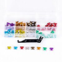 100pcs Micro Auto Car Low Profile Mini Blade Fuse 3~30A Black Puller Assorted