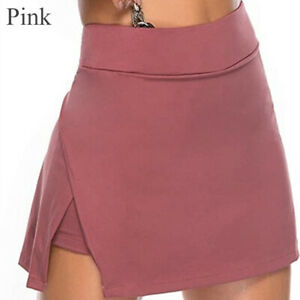 Women A Line Sport Skort Gym Yoga High Waisted Shorts Mini Skirt Dress Summer