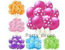 "12"" Polka dot Balloons Pink Blue Girl Boy Baby Shower Birthday Baloons Ballon"