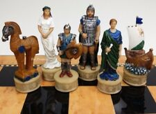 SPARTA Greek Mythology TROJAN WAR Troy vs Spartan Chess Men Set - NO BOARD