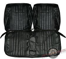 1970 Chevelle Seat Covers Front Bench Chevrolet Upholstery Skins Black Vinyl