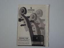 advertising Pubblicità 1941 RADIO SIEMENS 1246