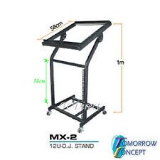 """DJ 12U 19"""" Rack, Studio Platform Console Mixer PA Amplifier Stand (MX-2)"""