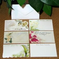 60 SYMPATHY IN LOVING MEMORY Florist Blank Enclosure Cards w/ Envelopes SET