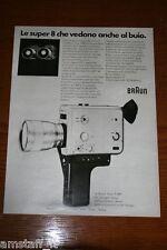 AZ18=1972=BRAUN SUPER 8 NIZO S 800=PUBBLICITA'=ADVERTISING=WERBUNG=
