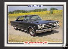 1967 PLYMOUTH GTX HEMI 426 V8 Muscle Car Photo 1992 SPEC TRADING CARD