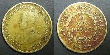 AFRIQUE DE L'OUEST BRITANNIQUE - 3 PENCE 1928 GEORGE V