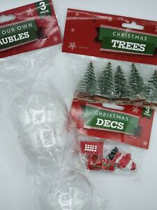 CHRISTMAS PLATIC FILL YOUR OWN BAUBLES PACK