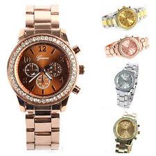 Vogue Bling Crystal Women Girl Unisex Stainless Steel Watches Quartz Wrist Watch