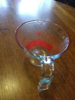 Vintage Pyrex 1 Cup 8 Oz Clear Glass Red Letter Reverse Read Measuring Cup