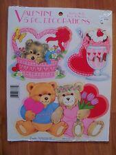 "Eureka 5pc Punch Out Valentines Decoration 4-5"" Size 9"" x 12"" Sheet NOS"