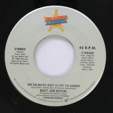 Country 45 Bully Joe Royal - We'Ve Both Got A Lot To Learn / Old Bridges Burn Sl